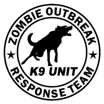 Zombie Outbreak K9 Dog Team Decal - Car Decal Sticker