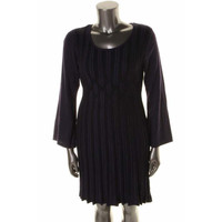 Style & Co. Womens Knit Long Sleeves Sweaterdress
