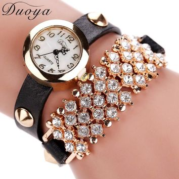New Fashion Luxury Steel Dial Quartz Bracelet Watch