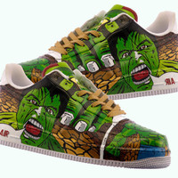 Hulk Hand Painted Shoes The incredible Hulk Shoes by PonkoWorld