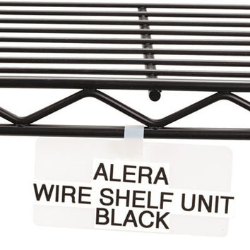 shelf tags for wire rack 3 1/2 x 1 1/2 white Case of 3