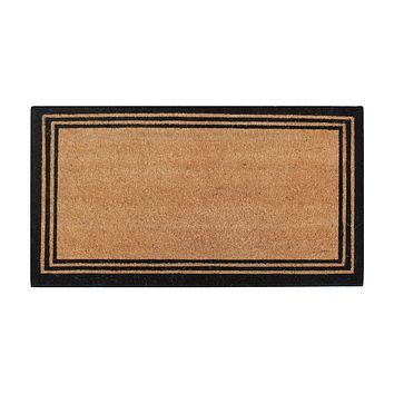 A1HC Pure Natural Coir Doormat with Heavy Duty PVC Backing,0.75 Inch Pile Height, Natural Color,Perfect for Outdoor Use Under Covered Areas
