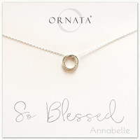 """""""So Blessed"""" Sterling Silver Trinity Necklace"""