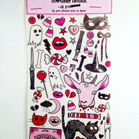 CREEPY CUTE temporary tattoo pack