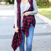 For The Love Of Plaid Vest