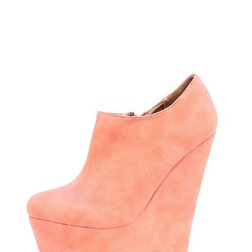 Mae Coral Suedette Wedges