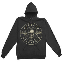 Avenged Sevenfold Women's  Hail To The King Seal Girls Jr Hooded Sweatshirt Black