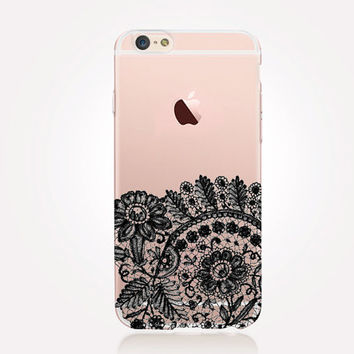 Transparent Lace iPhone Case - Transparent Case - Clear Case - Transparent iPhone 6 - Transparent iPhone 6 Plus - Transparent iPhone 6S