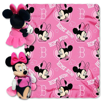 Boston Red Sox MLB Minnie Mouse with Throw Combo