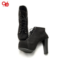 Brand new autumn and spring women boots women pumps shoes Artificial high heel Platform lace up ankle boots