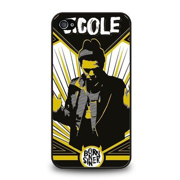 j cole born sinner iphone 4 4s case cover  number 1