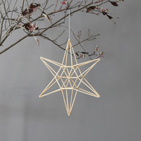 modern mobile natural star himmeli by AMradio on Etsy