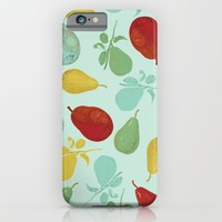 pears - teal iPhone & iPod Case by Her Art