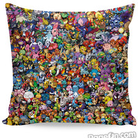 Pokemon Collage Couch Pillow