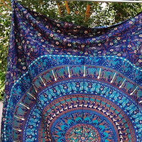 Jennica Large Hippie Tapestry Mandala Bohemian Bedspread Throw