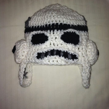 Star Wars Stormtrooper Crochet Beanie - made to order - all sizes
