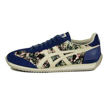 LMFH3W Onitsuka Tigers Unisex: California 78 Floral Monaco Blue & Slight White Sneaker