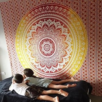 BIG Mandala Hippie Tapestry, Hippie Wall Hanging Tapestries, Bohemian Tapestries, Queen Mandala Home Decor