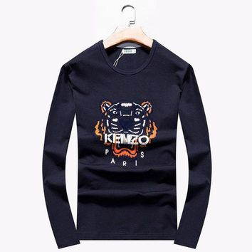 ONETOW - Brand:Kenzo- Gender: Unisex-Color:Grey,Black,Blue,- Season:Spring Autumn Winter- Style: Casual Sport- Material: Cotton