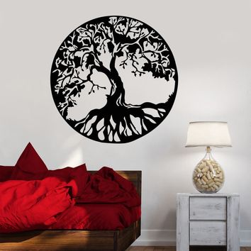 Vinyl Wall Decal Celtic Tree Of Life Family Nature Style Stickers Unique Gift (1560ig)