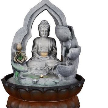 Indoor Religious Buddha Water Fountain Statue