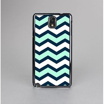 The Teal & Blue Wide Chevron Pattern Skin-Sert Case for the Samsung Galaxy Note 3