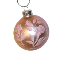 Hand Painted Christmas Ornament  Baby Pink by HandPaintedPetals