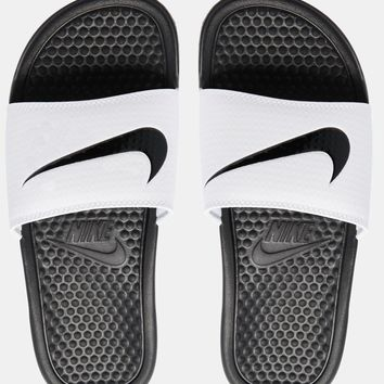 Nike Benassi Just Do It Black & White Slider Sandals