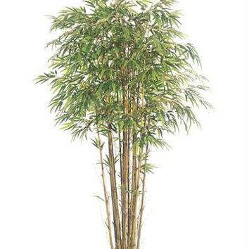 2 Artificial Bamboo Trees - Potted