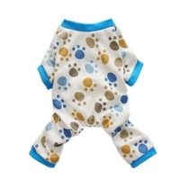 Fitwarm Adorable Paws Dog Pajamas for Dog Shirt Cozy Soft Dog Pjs Dog Clothes, Small