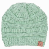 CC Beanie Cable Knit Beanie in Sage HAT-20A-SAGE