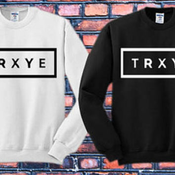 TRXYE logo Crewneck Sweater   Available Size S,M,L,XL,XXL color black and white