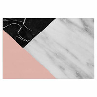 "Cafelab ""Marble Collage With Pale Pink ""  Gray Pink Decorative Door Mat"