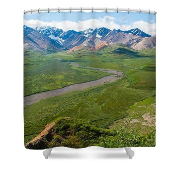 Alaska Mountains 1 - Shower Curtain