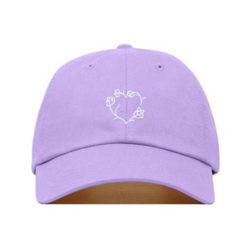 Floral Heart Dad Hat