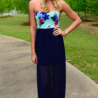 Back Me Up Maxi Dress, Mint/Navy