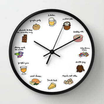 Foods of Harry Potter Wall Clock by Tyler Feder | Society6