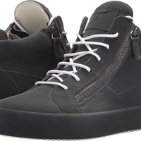 Giuseppe Zanotti Mens May London Mid Top Flocked Sneaker