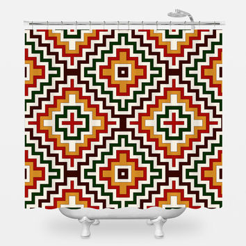 Bohemian Crown Shower Curtain