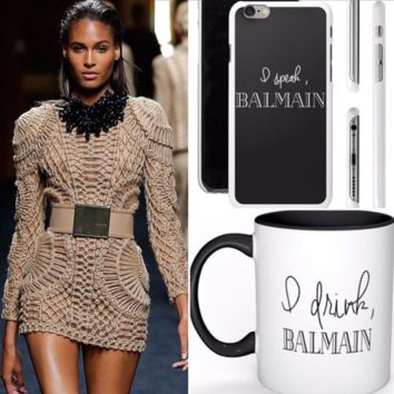 I drink Balmain Coffee/Tea Mug