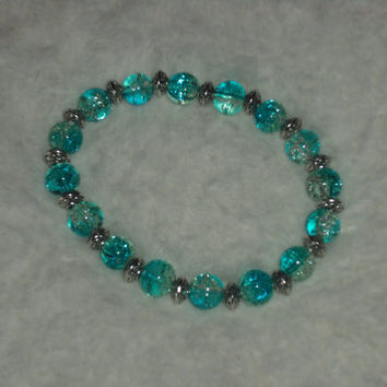 Beaded bracelet Glass bead bracelet Gift for her Unique bracelets Blurd glasss beaded bracelet  ©Jack Jack's Wayart