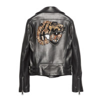 Tiger Leather Jacket