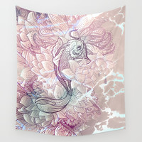 koi fish Wall Tapestry by printapix