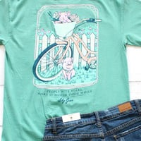 Pigs on Bike Tee {Seafoam}