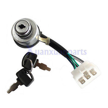 Chinese Portable Gasoline Generator 6-Wire Ignition Key Combination Switch New