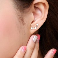 1 Pair Fashion Cute Version Stars Hypoallergenic Woman Earrings