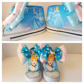 Princess Cinderella Disney birthday shoe (NON-CONVERSE)