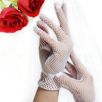 Good Quality Fishnet Mesh Gloves Fashion Women Gloves Summer  Protection Lace Elegant Lady Style Gloves