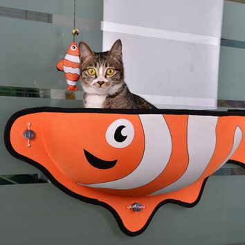 Cat Window Lounger Hammock Perch Hanging Shelf With Suction Cups