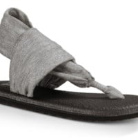 Sanuk Yoga Sling 2 Metallic Silver Sandals